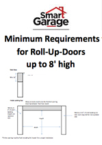 Headroom Required for up to 8' high Roll-up-Door