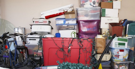 Avoid water damage by storing your items off the garage floor.