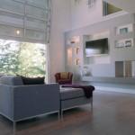 modern living room in garage