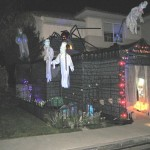 Halloween haunted garage