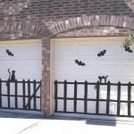 Halloween garage decorations - bats and cats