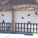 Halloween garage decorations - bats and cats