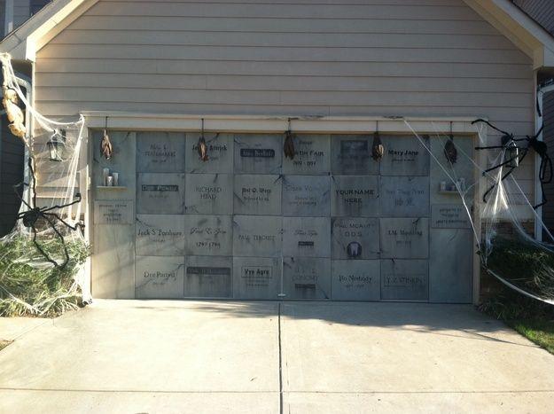 Decorating Ideas > Halloween Home & Garage Decorations  Smart Garage ~ 171003_Garage Door Halloween Decorating Ideas