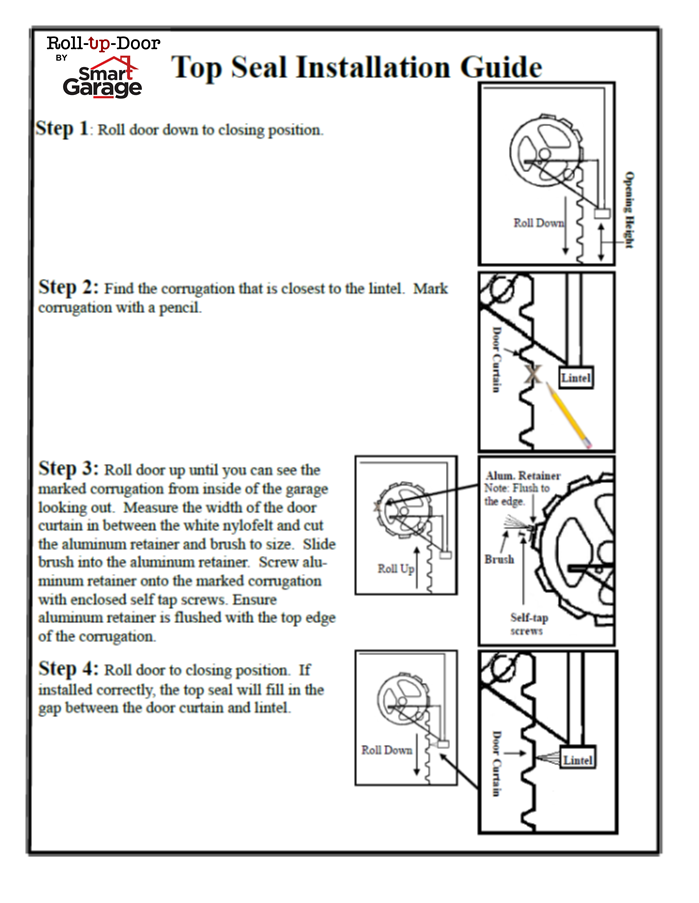 Roll up garage door installation manuals smart garage
