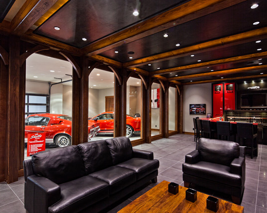 Man cave garage ideas smart garage for Garage man door