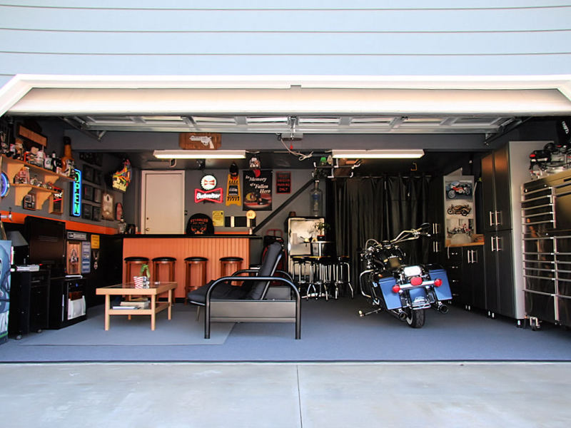 harley garage ideas - Man Cave Garage Ideas