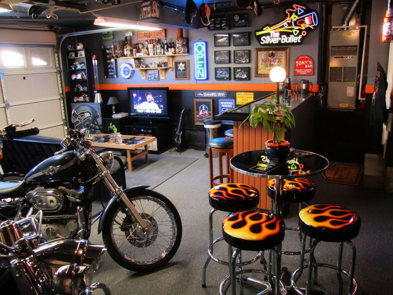 Man Cave Car Art : Man cave garage ideas smart