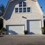 white roll-up barn doors