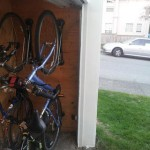 Bicycle storage roll up door