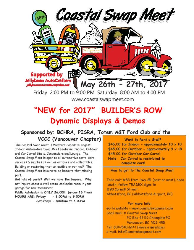 2017 Coastal Swap Meet Flyer