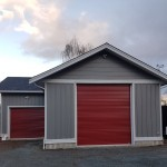Red roll up shed doors