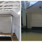 Boat shed roll up door