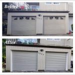 before and after roll up door